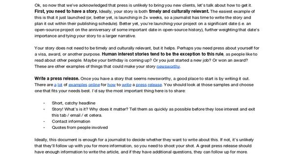 [HAWRAF] Press Tips