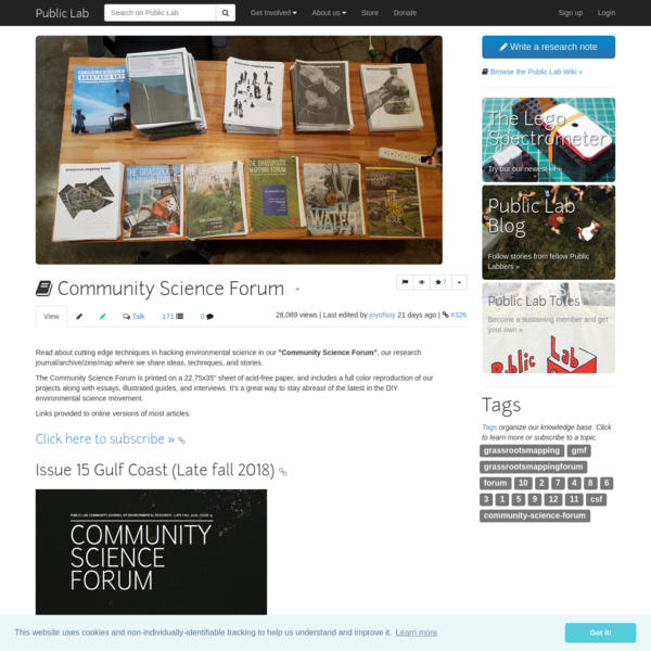 Community Science Forum