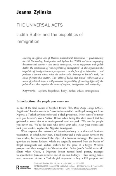 Zylinska-The-Universal-Acts-Judith-Butler-and-the-Biopolitics-of-Immigration.pdf