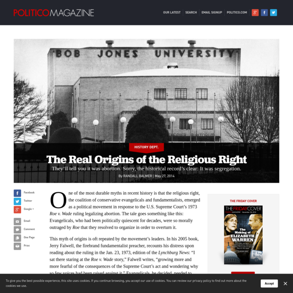The Real Origins of the Religious Right