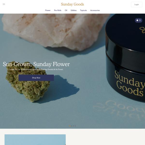 Buy Weed Online | Marijuana Delivery | Arizona Medical Marijuana Delivery - Sunday Goods