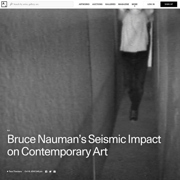 Header video: Bruce Nauman, Walk with Contrapposto, 1968. © 2018 Bruce Nauman / Artists Rights Society (ARS), New York. Courtesy of Electronic Arts Intermix. Corrections: A previous version of this article incorrectly identified Nauman's work Get Out of My Mind, Get Out of This Room as Get Out of My Head, Get Out of this Room.
