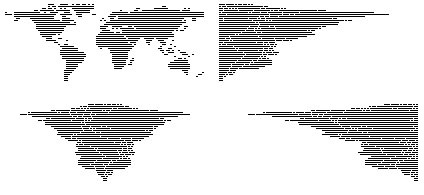 """""""The World Justified"""" (A map of the World represented in a graphic style and arranged like text) http://www.detanicolain.com"""