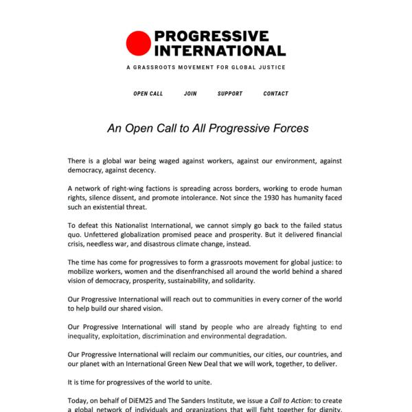 Open Call - Progressive International