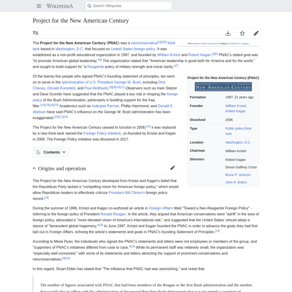 Project for the New American Century - Wikipedia