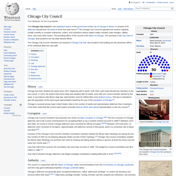 Chicago City Council - Wikipedia