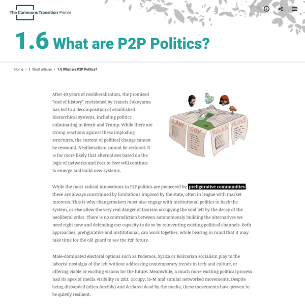 1.6 What are P2P Politics? - Commons Transition Primer