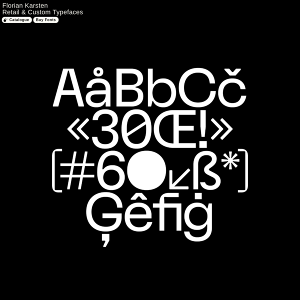 Florian Karsten | Retail & Custom Typefaces