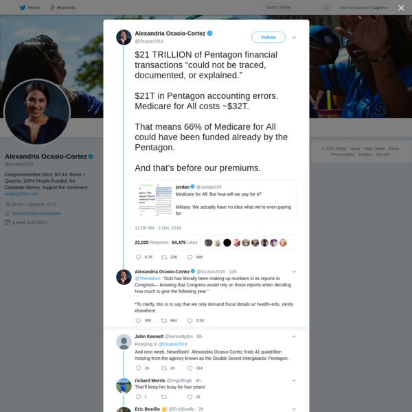 Alexandria Ocasio-Cortez on Twitter
