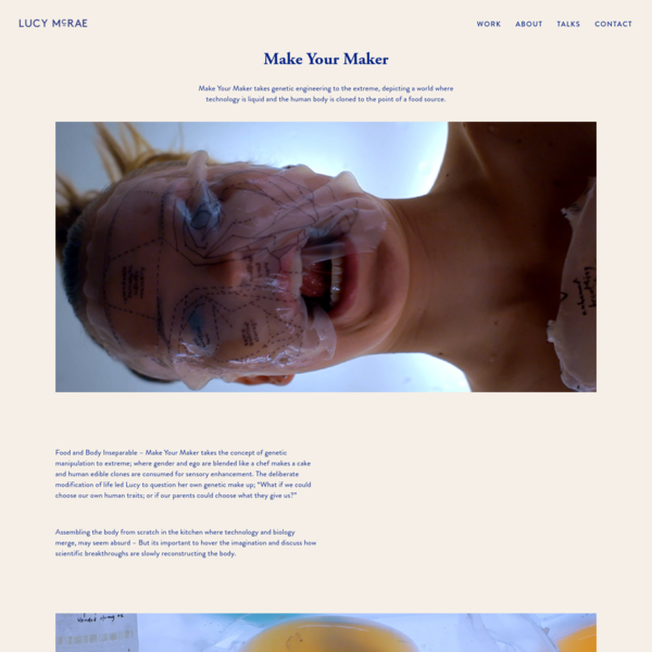 Make your maker - World renowned sci fi artist and body architect