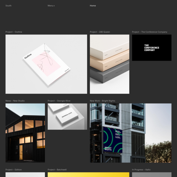 South is a design and branding studio based in Auckland, New Zealand.