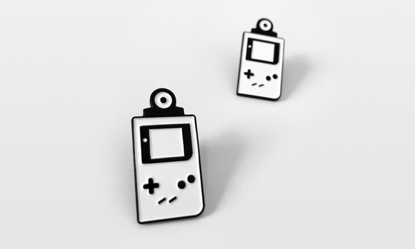 game boy camera enamel pin