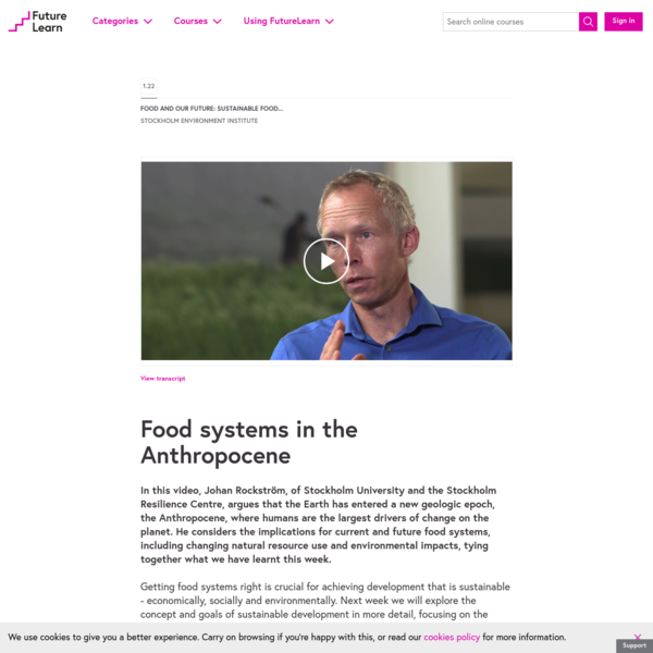 Food systems in the Anthropocene