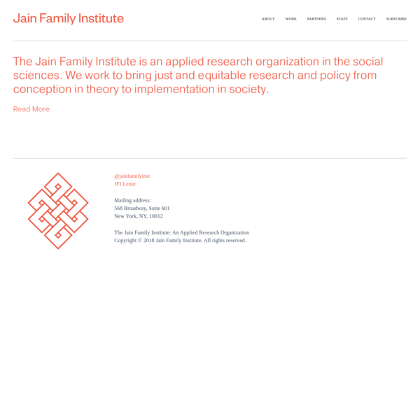 The Jain Family Institute: Applied Research and Pilot Design