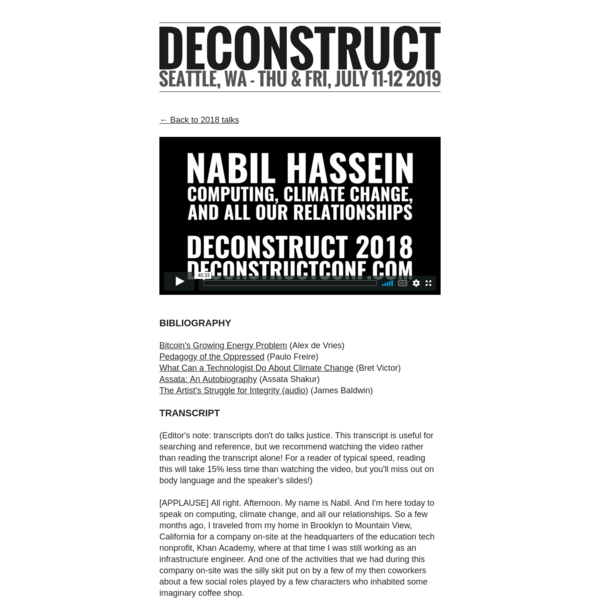 Computing, Climate Change, and All Our Relationships by Nabil Hassein - Deconstruct