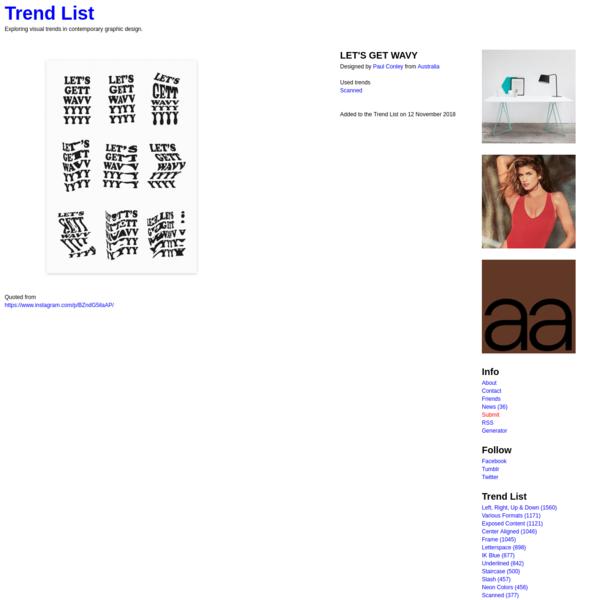 LET'S GET WAVY - Trend List