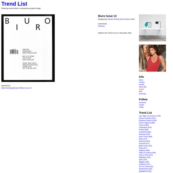 Biuro Issue 13 - Trend List