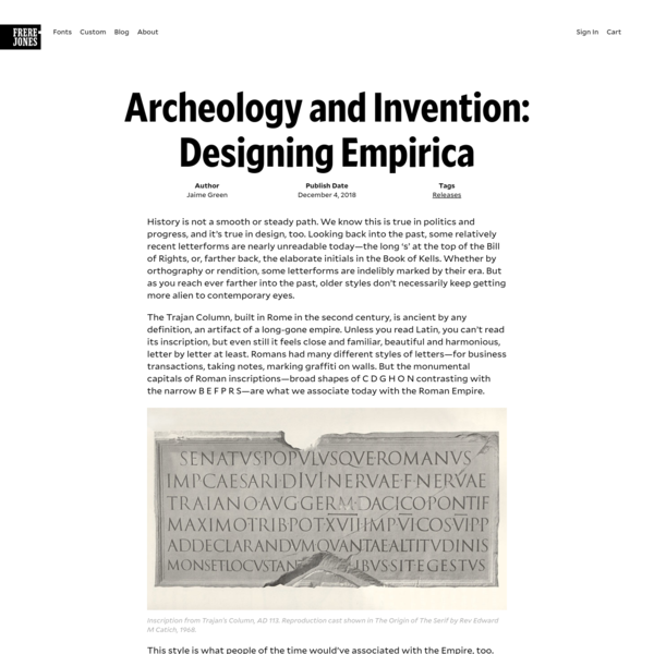 Archeology and Invention: Designing Empirica