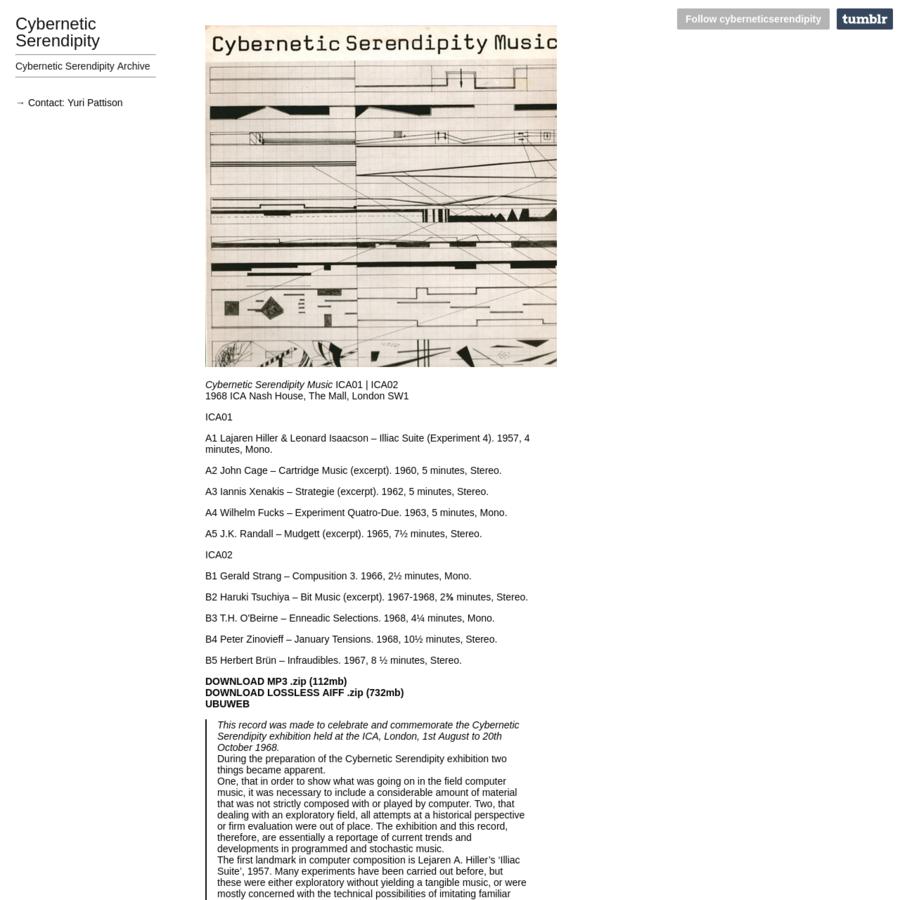 Cybernetic Serendipity Archive