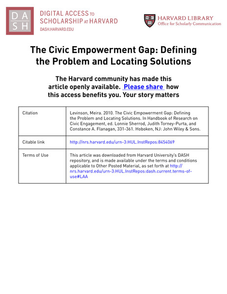 Civic Empowerment Gap