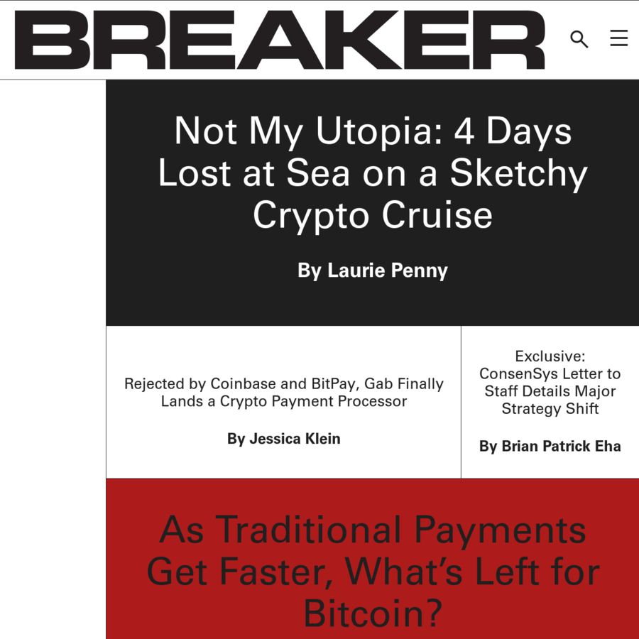 BREAKER is an editorially independent digital magazine owned by SingularDTV.