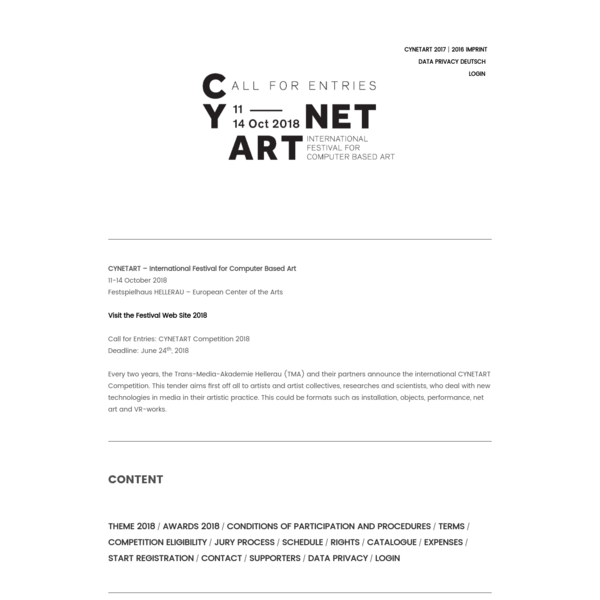 CYNETART 2018 competition - CFP