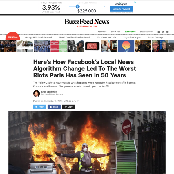 Here's How Facebook's Local News Algorithm Change Led To The Worst Riots Paris Has Seen In 50 Years