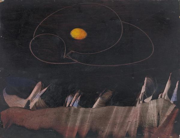 War of two roses, 1955 by Max Ernst