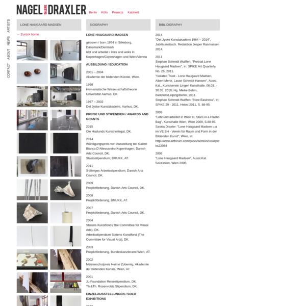 Lone Haugaard Madsen - Galerie Nagel Draxler - Art