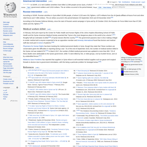 Casualties of the Syrian Civil War - Wikipedia