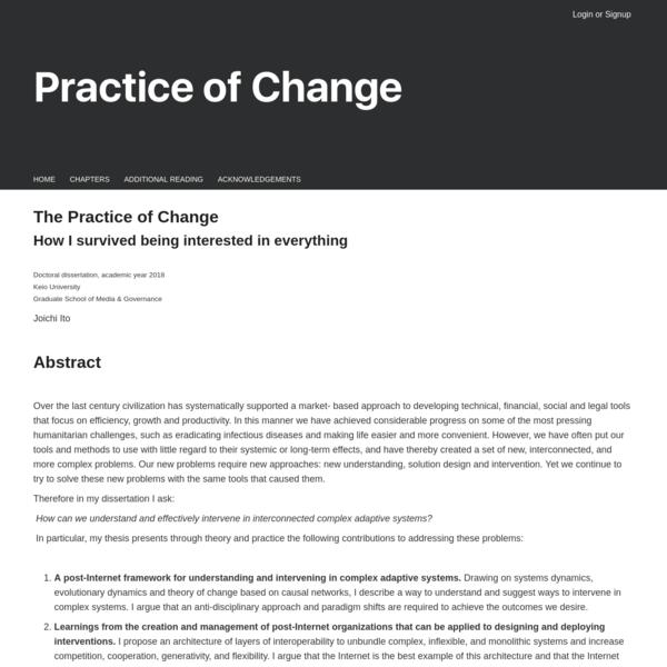 Practice of Change
