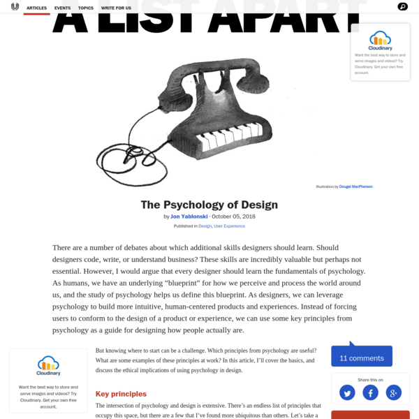 The Psychology of Design · An A List Apart Article