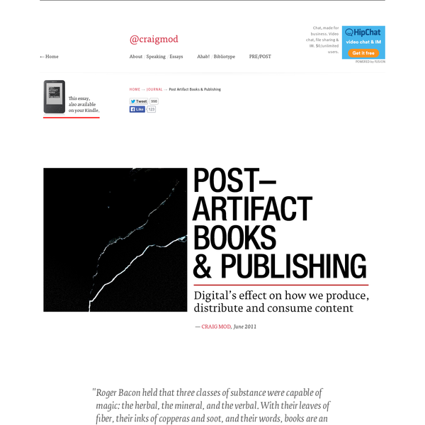 Post Artifact Books and Publishing
