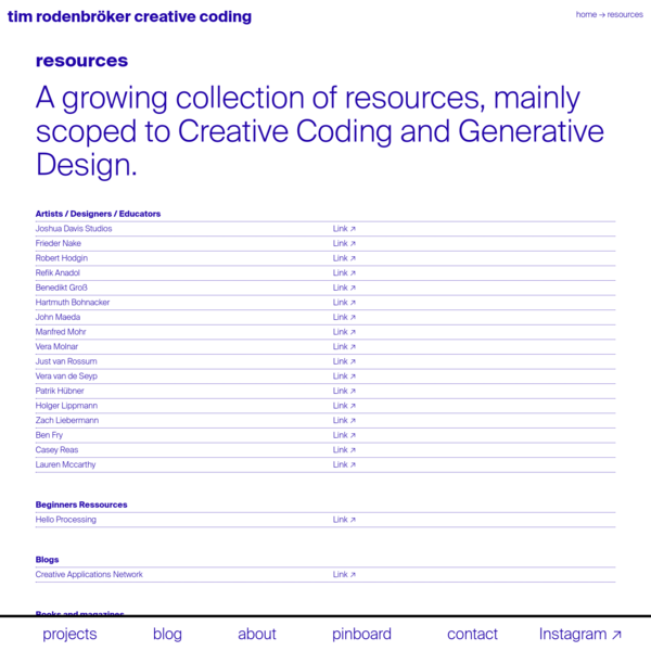 resources Archive * tim rodenbröker creative coding