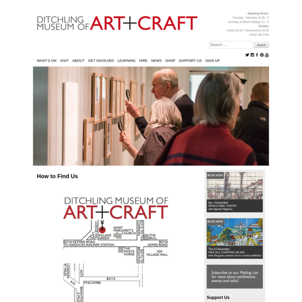 How to Find Us - Ditchling Museum of Art + Craft