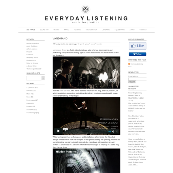 Everyday Listening - Sound Art, Sound Installations, Sonic Inspiration
