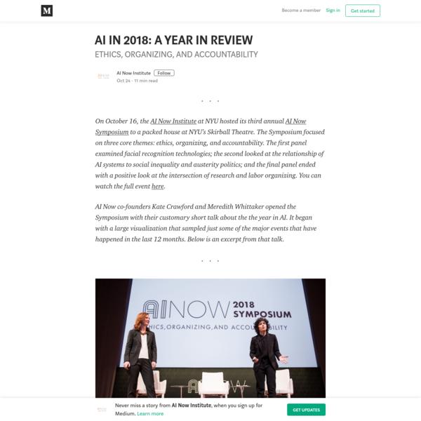 AI IN 2018: A YEAR IN REVIEW - AI Now Institute - Medium
