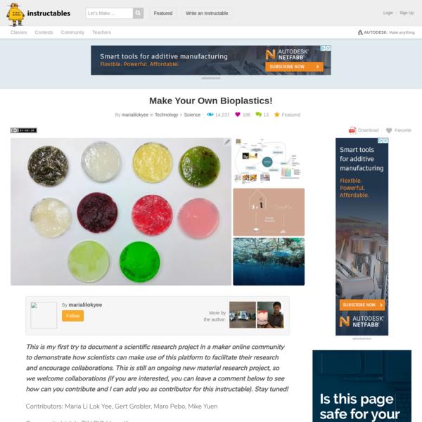 Make Your Own Bioplastics!