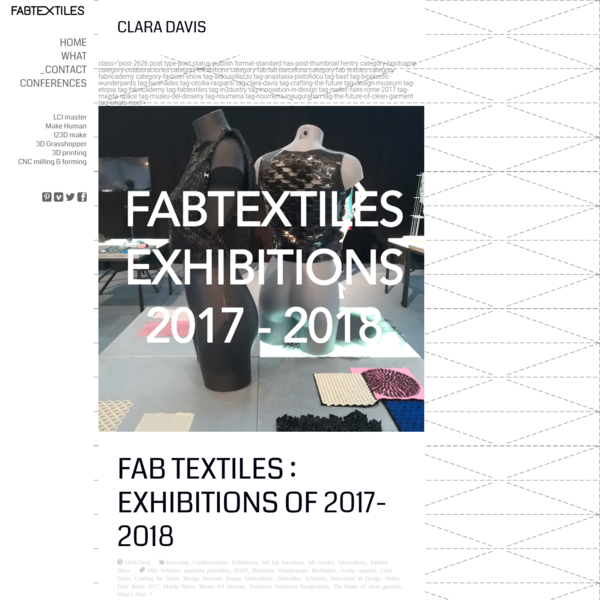 Clara Davis   FabTextiles