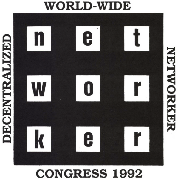 Crackerjack Kid, World-Wide Decentralized Networker Congress, logo, 1992