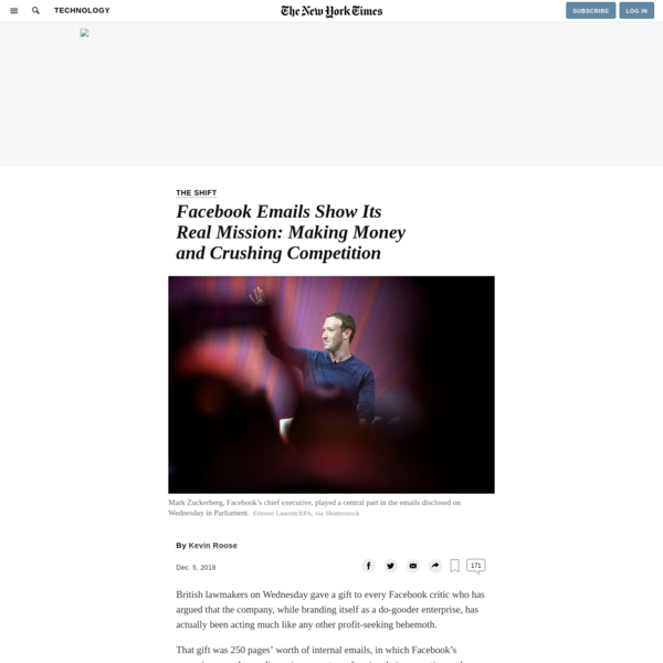 Facebook Emails Show Its Real Mission: Making Money and Crushing Competition