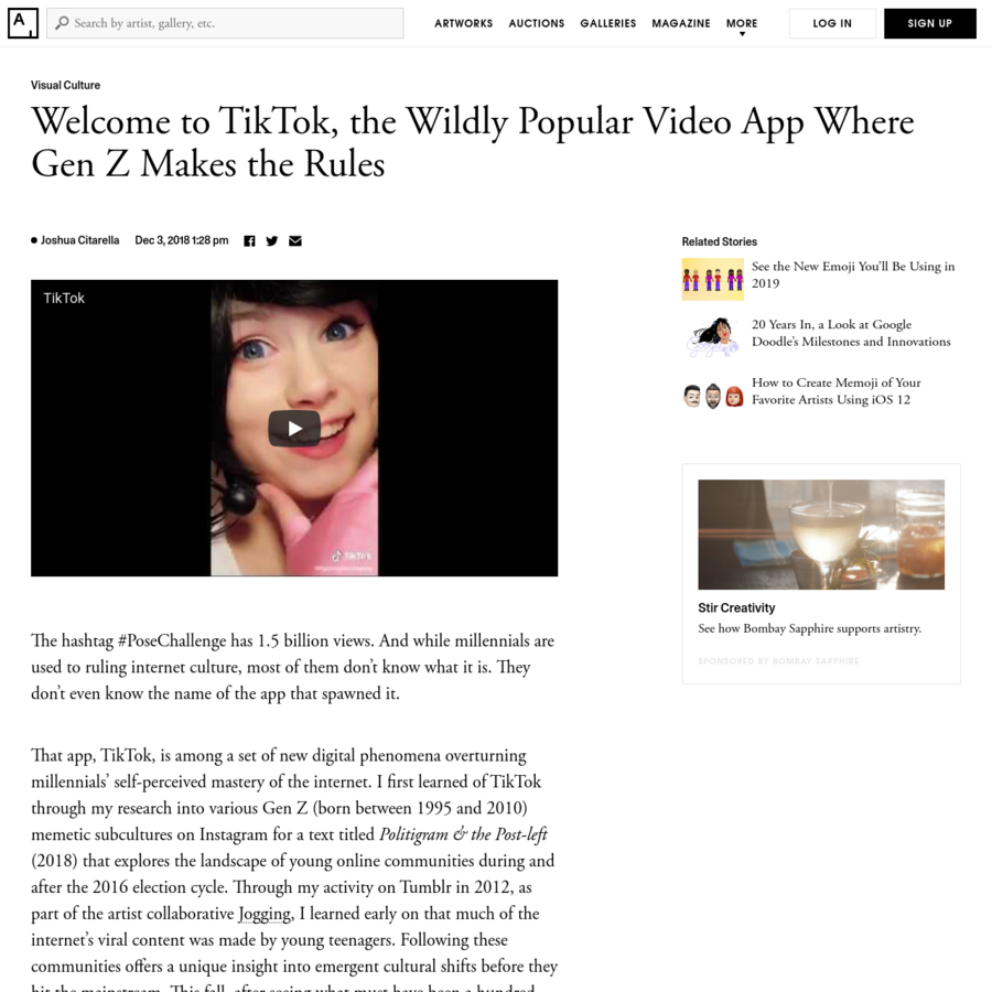 """TikTok feels like the definitive mark in a forthcoming tide shift. Millennials are aging out and Gen Z is taking over as the dominant online culture. To quote an anonymous 15-year-old user: """"Boomer is a state of mind, not an age. We all become boomers eventually."""""""