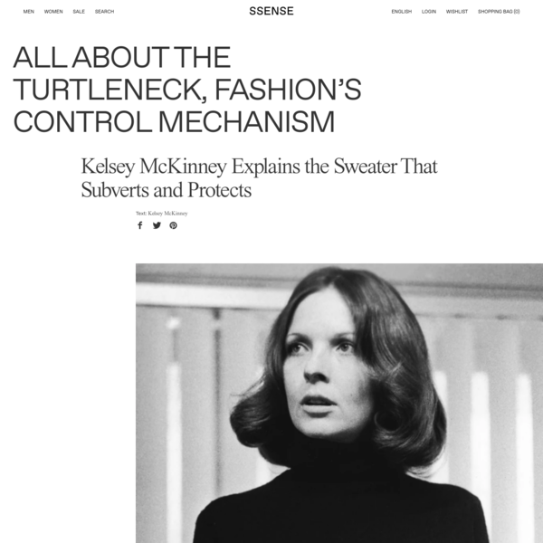 All About the Turtleneck, Fashion's Control Mechanism