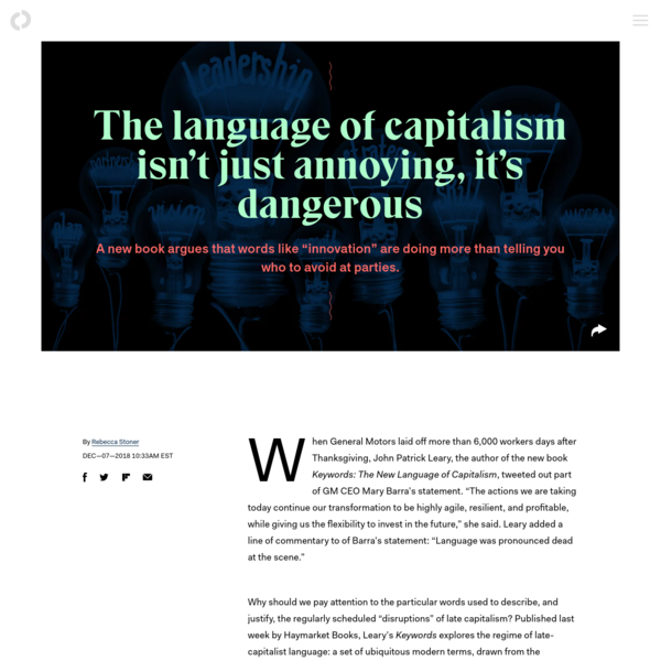 The language of capitalism isn't just annoying, it's dangerous