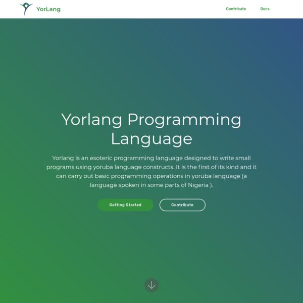 Yorlang - Yoruba Programming Language