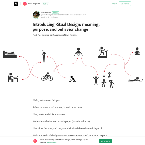 Introducing Ritual Design: meaning, purpose, and behavior change