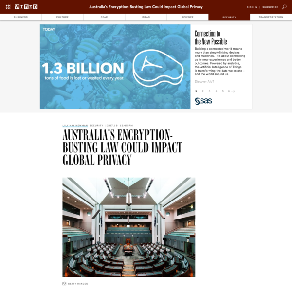 Australia's parliament passed controversial legislation on Thursday that will allow the country's intelligence and law enforcement agencies to demand access to end-to-end encrypted digital communications. This means that Australian authorities will be able to compel tech companies like Facebook and Apple to make backdoors in their secure messaging platforms, including WhatsApp and iMessage.