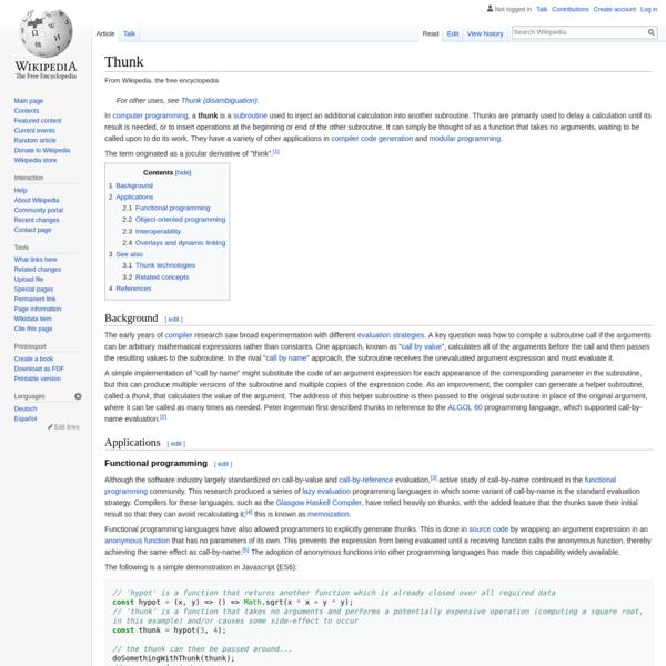 Thunk - Wikipedia