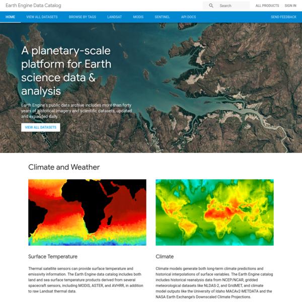 Earth Engine Data Catalog | Google Developers