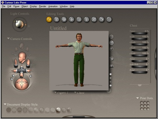 A 3D computer graphics program optimized for modeling & animation of human figures and accessories.